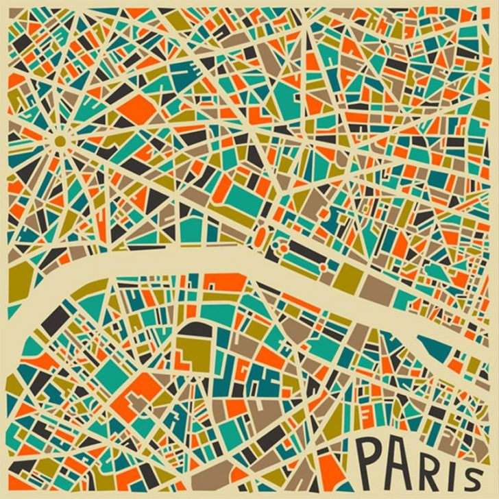 Modern Abstract City Maps Gift Ideas Creative Spotting