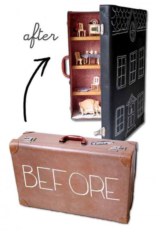 Upcycle Suitcase Dollhouse Sustainability