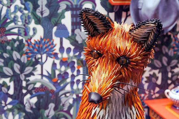 Designers Zim & Zou Create a Papercraft Window Display Featuring a Hand Made Leather Fox Art + Graphics