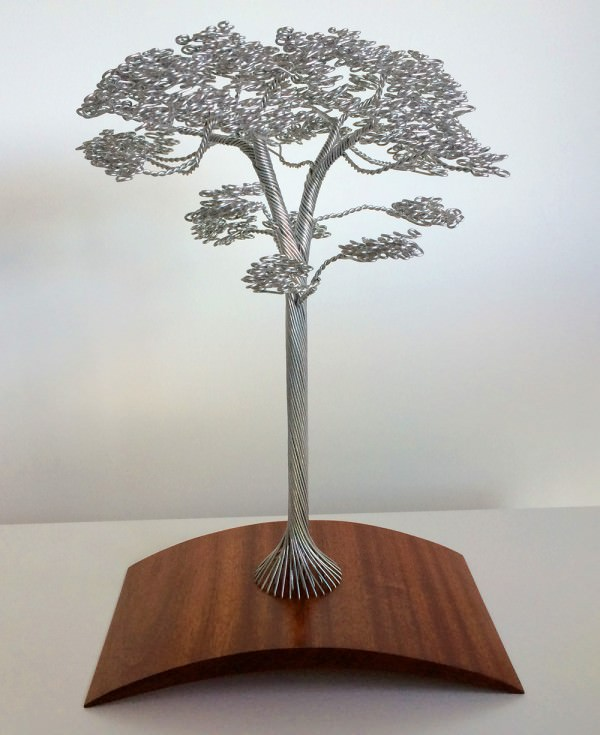 Wire Twisted By Hand Into Beautiful Tree Sculptures Art + Graphics DIY + Crafts