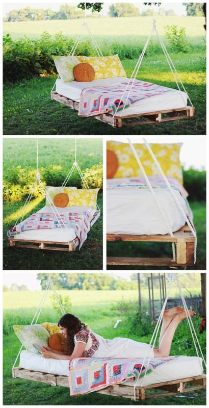 Diy: Hanging Pallet Bed DIY + Crafts Sustainability