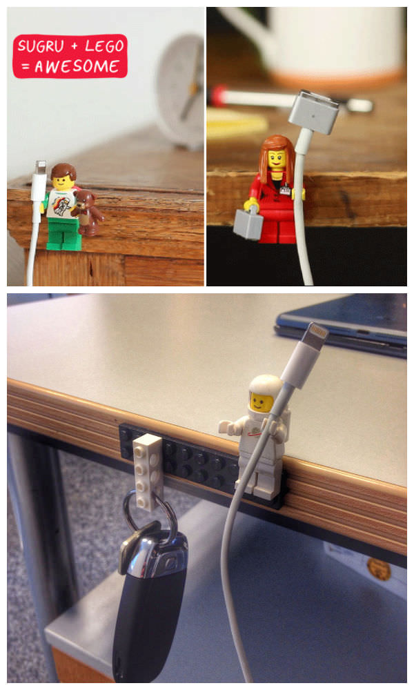Diy Lego Key And Cable Holder Gift Ideas Creative