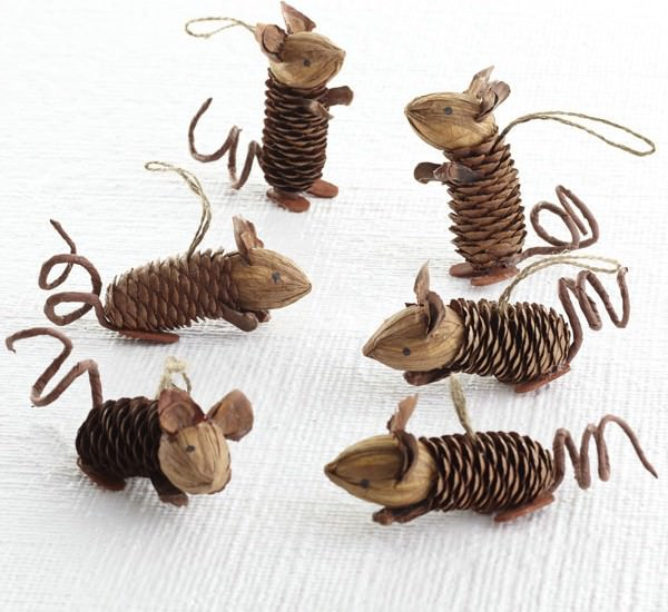 Mice Pinecone Friends DIY + Crafts