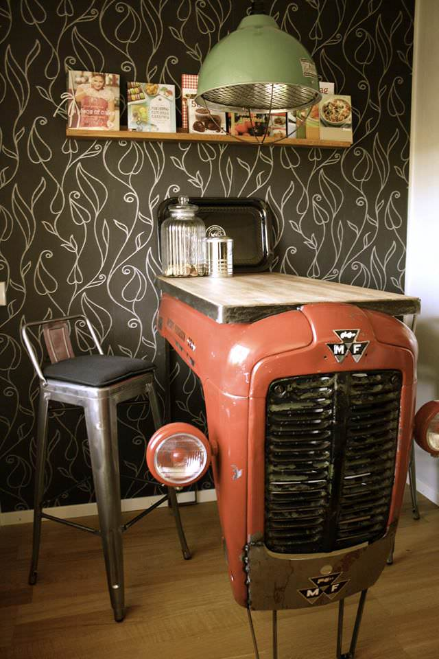 Old Massey Ferguson Upcycled Into Kitchen Bar | Gift Ideas | Creative  Spotting