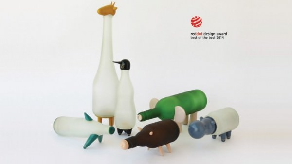 Beer Bottles Animals Design