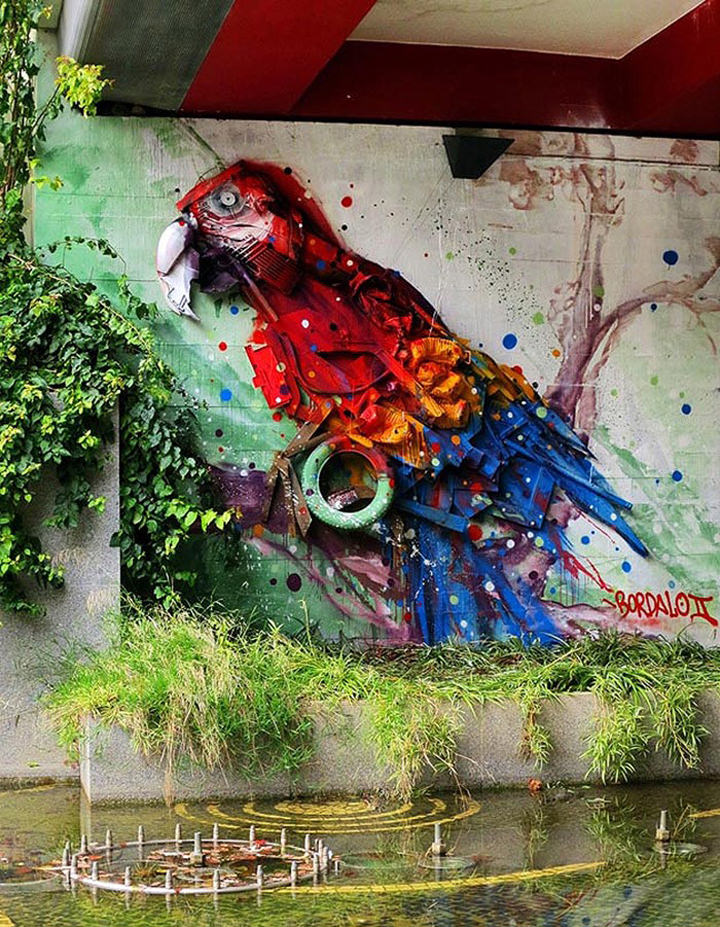 Trash Turned into Street Art by Artur Bordalo Art + Graphics