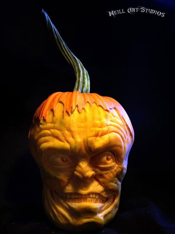 Amazing scary pumpkin carvings by john neill gift ideas