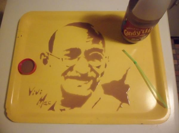 Portraits Made from Spilled Liquids by Vivi Mac Creative Fooding