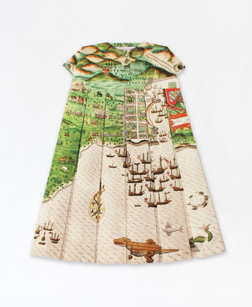 Dresses from Folded Maps by Elisabeth Lecourt Art + Graphics
