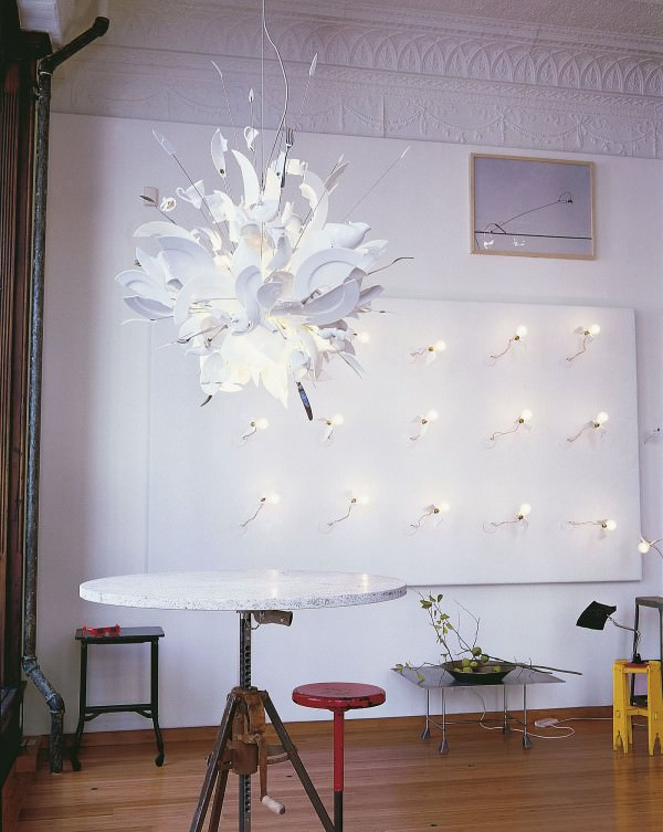 Exploding Dishware Chandelier Architecture + Interiors