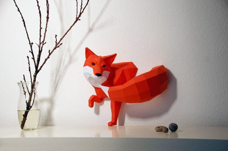 Diy Paper Sculpture Animals + Nature DIY + Crafts