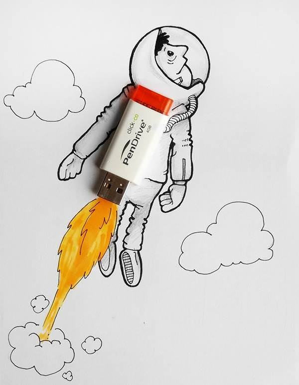 Lovely Doodles Interact with Real Life Objects by Manik and Ratan Art + Graphics