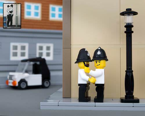 Bricksy: Banksy in Lego Art + Graphics Photography