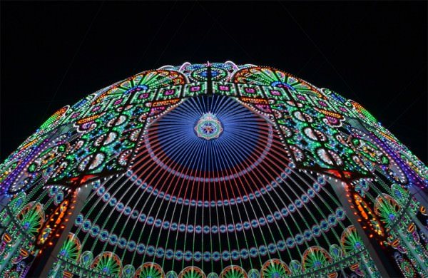 Amazing Cathedral Made from 55,000 Led Lights Architecture + Interiors Art + Graphics