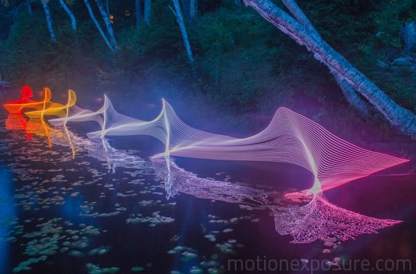 Kayaking And Canoeing Motion Captured Art + Graphics Photography