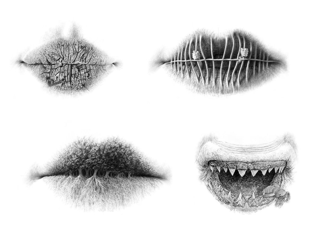 Surreal Pencil Drawings of Lips by Christo Dagorov   Gift Ideas   Creative  Spotting b607856061