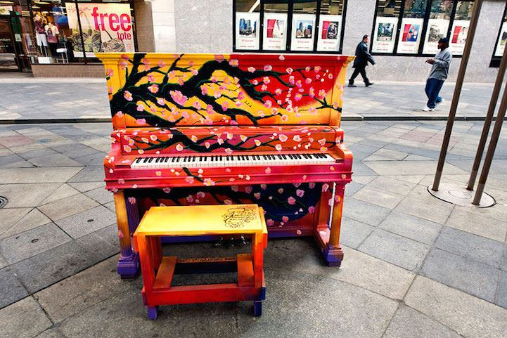 Play Me, I'm Yours: Artists Beautify Outdoor Pianos Around the World to Bring Music to the Streets Art + Graphics