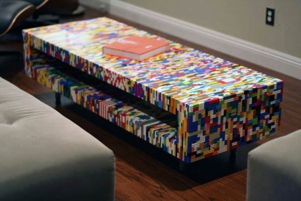 lego is not just child 39 s play you can make coffee tables with them gift ideas creative spotting. Black Bedroom Furniture Sets. Home Design Ideas