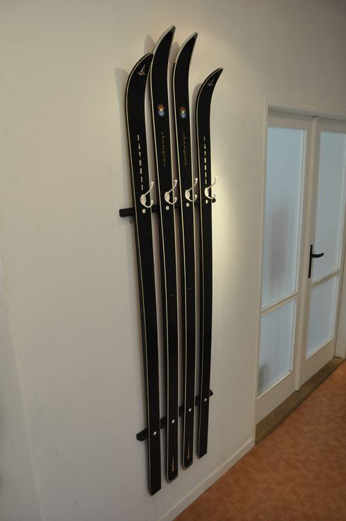 Old Skis Repurposed Into Coat Hanger Gift Ideas