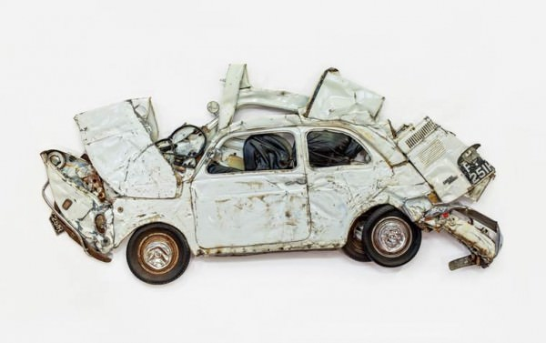 Pressed Flower Crushed Cars By Ron Arad Art + Graphics