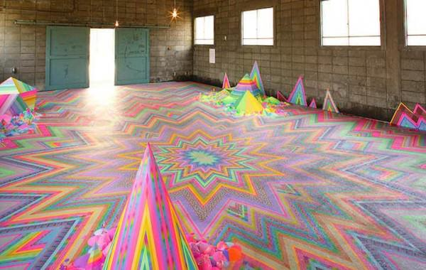 Candy-like Floor Installations by Tanya Schultz Art + Graphics