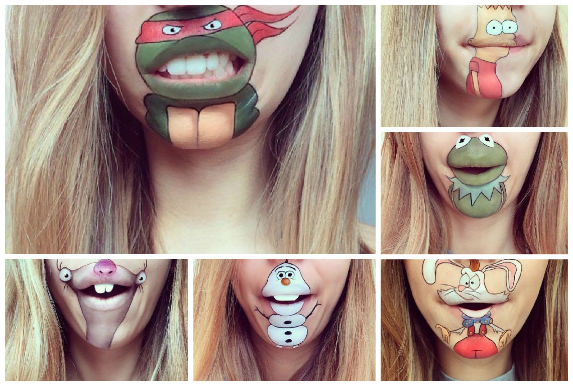Amazing Cartoon Heroes Recreated On Laura Jenkinson Mouth Gift - Laura jenkinson mouth painting