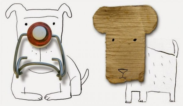 Found Objects Turned Into Illustrations by Roger Chouinard Art + Graphics