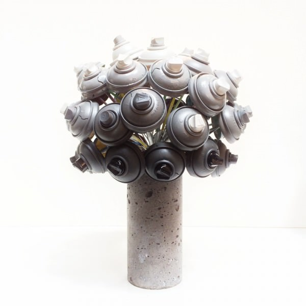 Spray Cans Upcycled Into Beautiful Colored Flowers Art + Graphics Sustainability