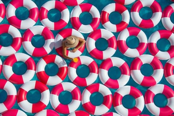 Pool and Rubber Rings By Gray Malin Photography