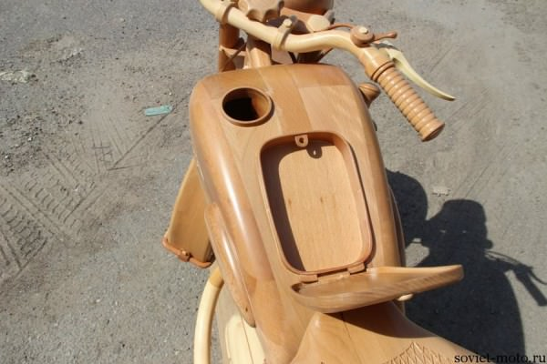 Carpenter From Russia Carves A Wooden Replica Of Izh-49 Motorcycle From The Middle Of The Last Century Art + Graphics