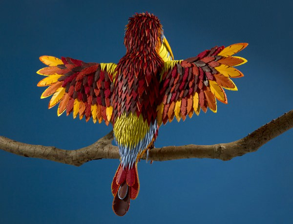 Colorful Animals Made From Leather Offcuts By Zim & Zou Animals + Nature Art + Graphics