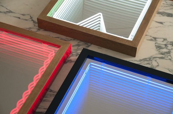 Modern Mirrors For Endless Light Sculpture Design