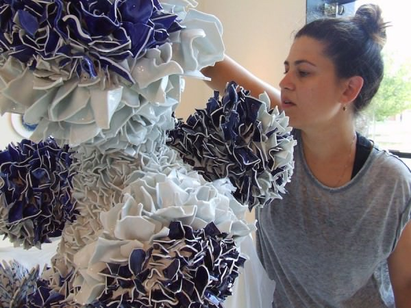 Amazing Flowers Created from Thousands of Ceramic Shards by Zemer Peled Art + Graphics