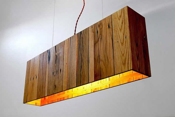Minimalist Pendant Lamp Made Out Of Repurposed Pallet Wood By Propellor Design Sustainability