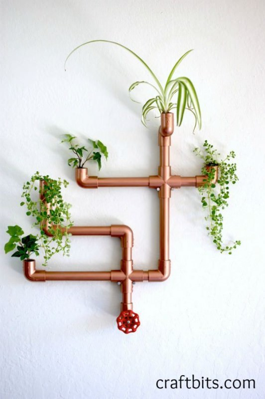 Original Wall Planter From copper Pvc Design DIY + Crafts