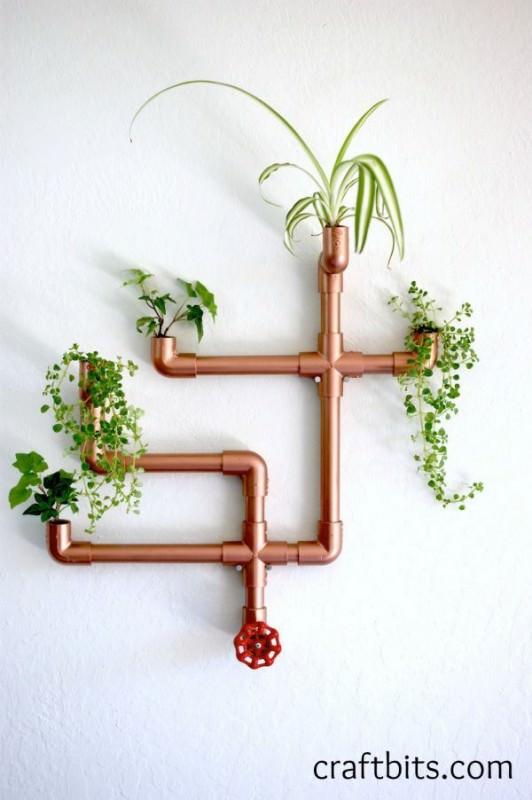 Original Wall Planter Fromcopper Pvc Design DIY + Crafts