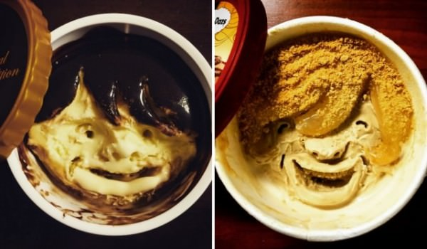 Funny Characters Carved into Häagen-dazs Ice Cream Cups By makoto Asano Creative Fooding