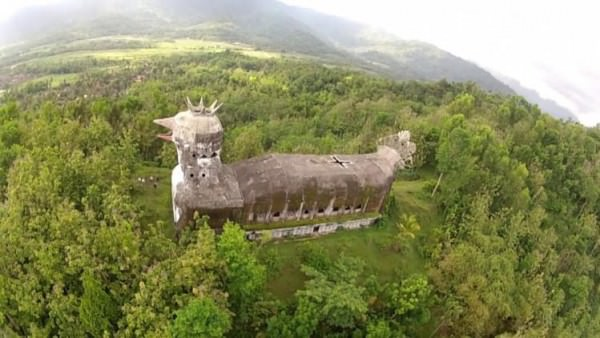 Duck-shaped Abandoned Church Architecture + Interiors