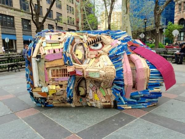 Public Sculpture Made From New York City's Debris By nicolas Holiber Art + Graphics Sustainability
