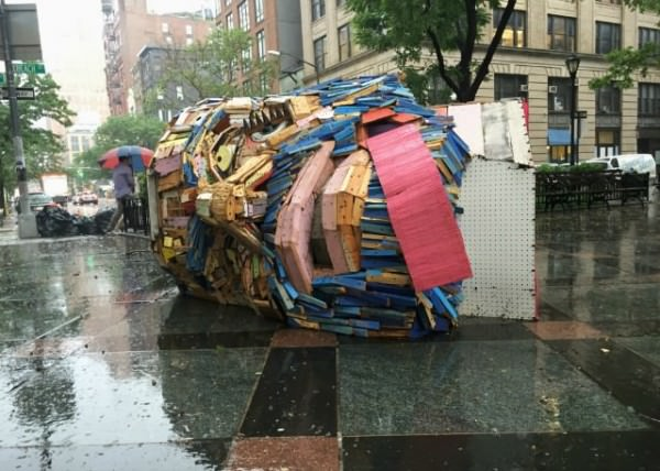 Public Sculpture Made From New York City's Debris Bynicolas Holiber Art + Graphics Sustainability