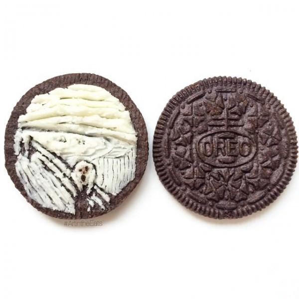 Drawing In Oreo Cream By Tisha Cherry Art + Graphics Creative Fooding