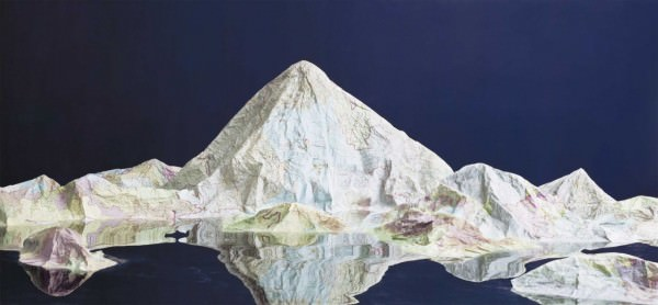 Mountains From Maps & Cities From Books by Ji Zhou Art + Graphics