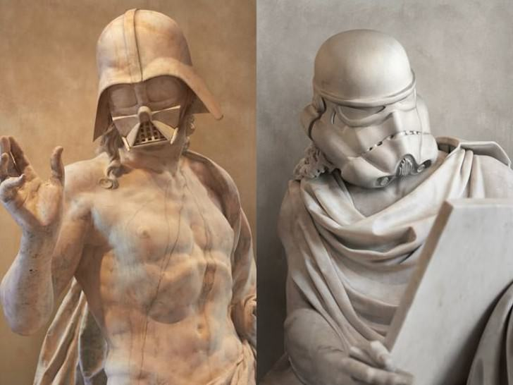 Starwars Iconic Characters As Ancient Greek Statues By