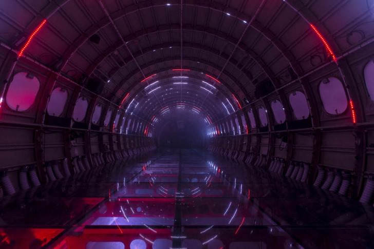 Breathtaking Light Installation On A Plane Art + Graphics Geek Universe