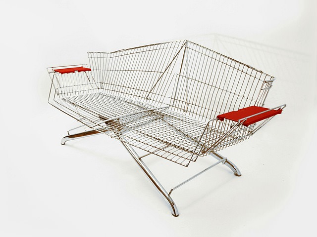 Discarded Shopping Carts Transformed Into Stylish Furniture By Etienne Reijnders Design
