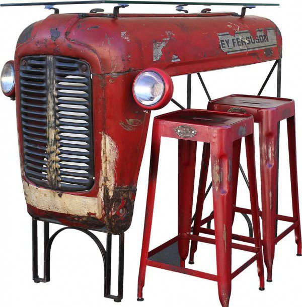 Beautiful Massey Ferguson Tractor Upcycled Into Design Bar Design