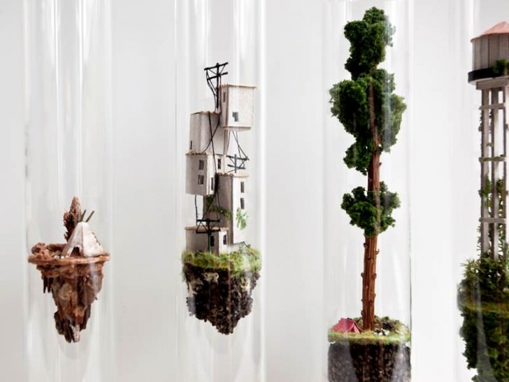 Vertical Houses That Rise Into Tubes Art + Graphics