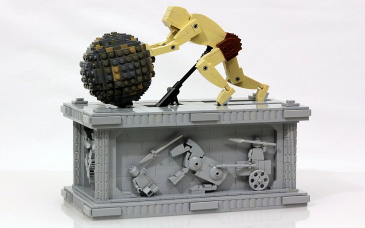 Sisyphus And His Animated Rock In Lego By Jason Allemann Art + Graphics