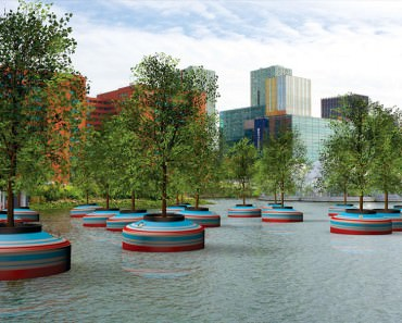 Floating Forest of Trees will be Built on Water in Rotterdam