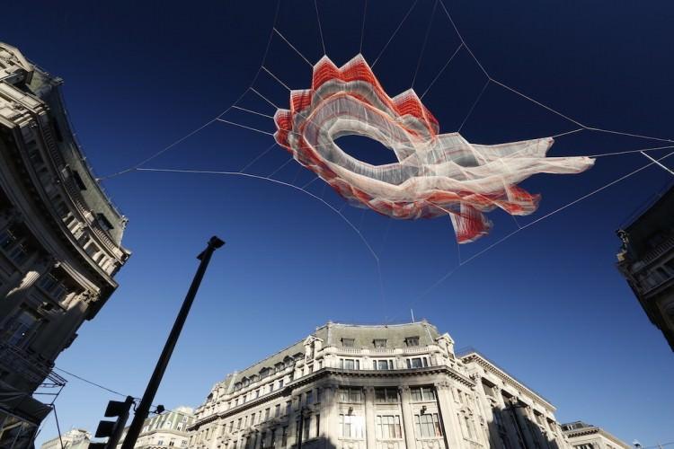 Floating Sculpture By Janet Echelman Art + Graphics